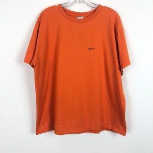 Vintage 90's Crewneck Short Sleeve Orange  Tshirt